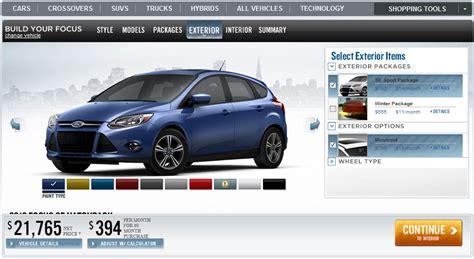 Auto Konfigurator Focus by 2012 Ford Focus Configurator Comes