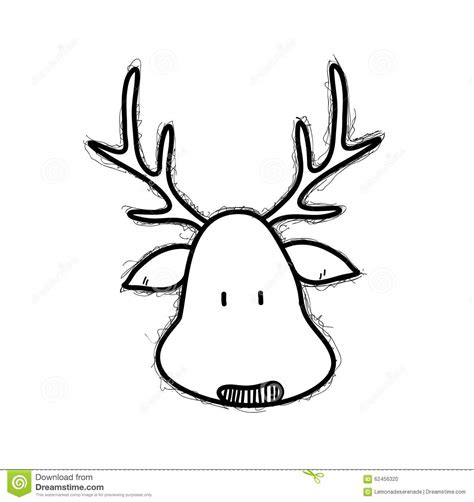 doodle draw reindeer reindeer doodle stock vector illustration of commercial