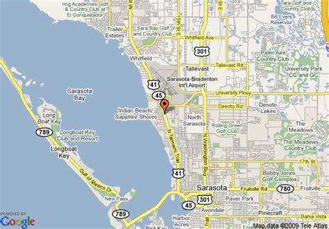 where is sarasota florida located on the map map of quality inn sarasota airport sarasota