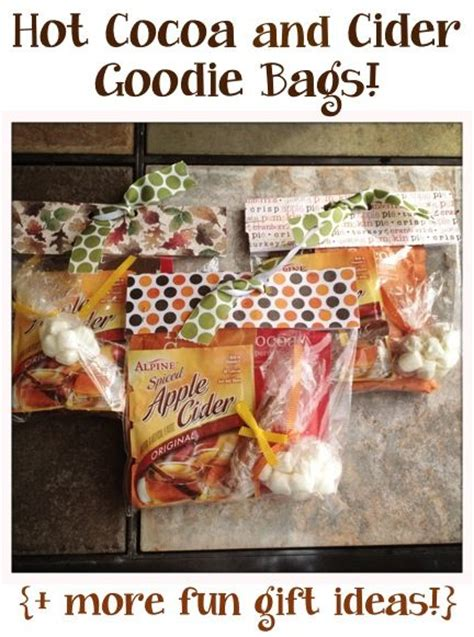 hot cocoa and cider goodie bags more fun gift ideas