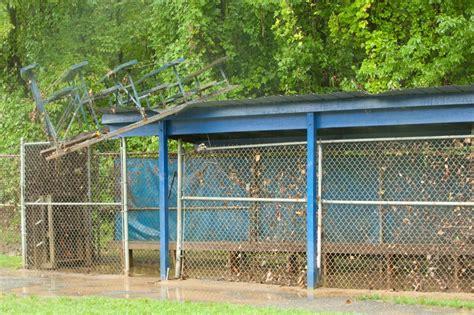 backyard dugout flooding springfield lorton house school backyard