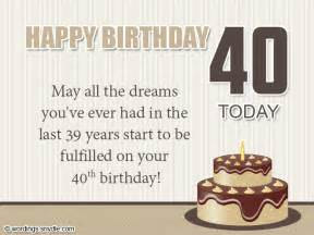 40th birthday wishes messages and card wordings - 40th Birthday Card Messages