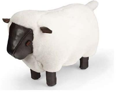 sheep handcrafted footstool