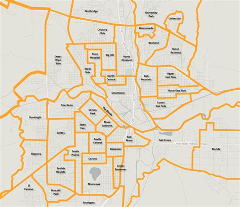 colorado springs subdivisions map pueblo neighborhoods 1 0 geographical perspectives