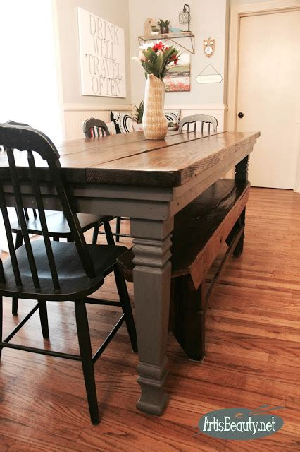 build your own farmhouse table is updating the legs of my diy build it