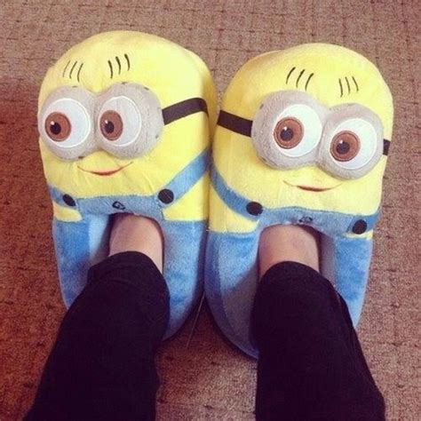 despicable me house slippers shorts shoes minions slippers women slippers minions cute fluffy yellow blue