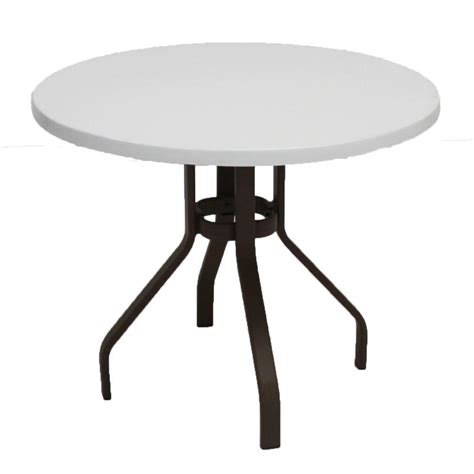 Marco Island 36 In Dark Cafe Brown Round Commercial 36 Patio Table