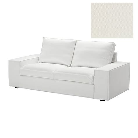white cotton slipcovers for sofas ikea kivik 2 seat sofa slipcover loveseat cover blekinge