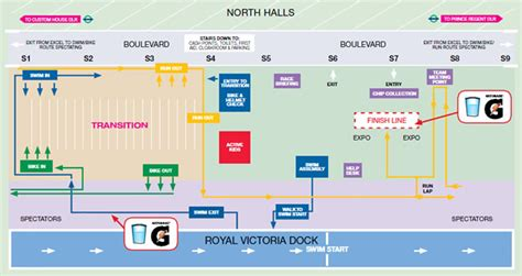 layout of excel london the virgin active london triathlon race information