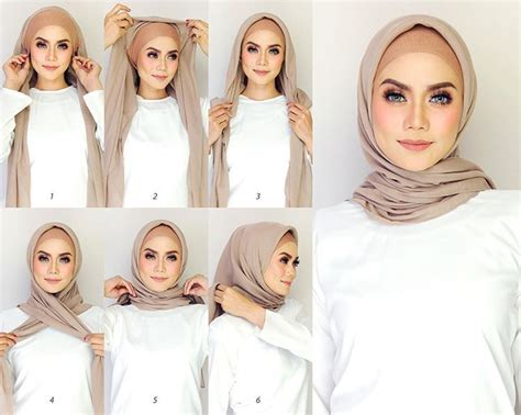 tutorial hijab ombre simple easy 2 minutes square hijab tutorial hijab tutorials