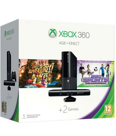 Produk Microsoft Kinect Xbox buy microsoft xbox 360 4gb kinect with kinect adventures