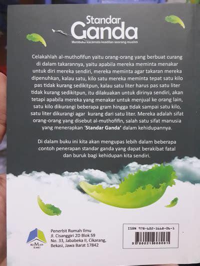 buku standar ganda membuka kacamata keadilan muslim toko muslim title