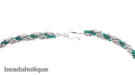 how to add a clasp to a beaded bracelet how to add a clasp to a bead woven spiral rope