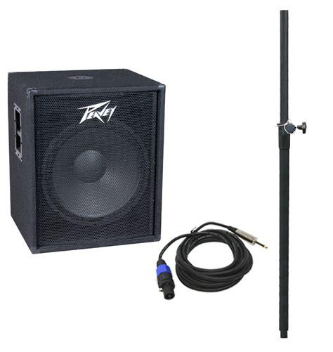 Speaker Subwoofer Peavey Peavey Pv118 Pro Audio Dj 400w Sub 18 Quot Subwoofer W Speaker Mount Cable New Ebay