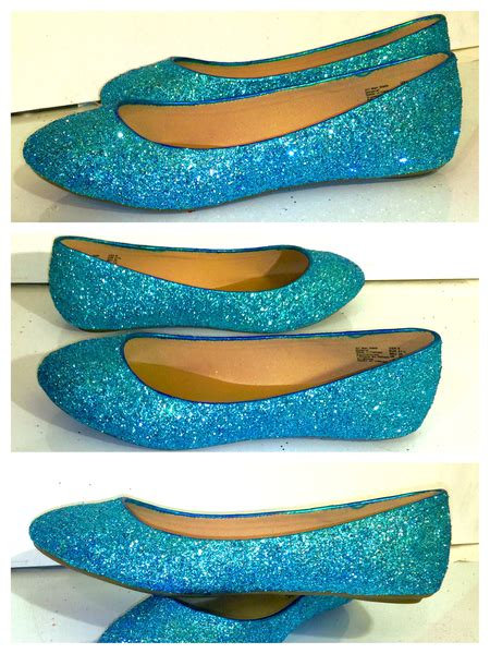 turquoise wedding shoes sparkly turquoise malibu blue glitter ballet flats