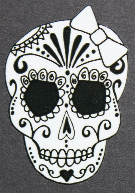 sugar skull design template day of the dead sugar skull car sticker 39 46