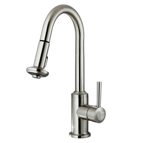 Stainless Steel Pull Out Kitchen Faucet Vigo Single Handle Pull Out Sprayer Kitchen Faucet In Stainless Steel Vg02012st The Home Depot