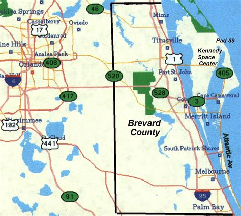 map of eastern florida qth info