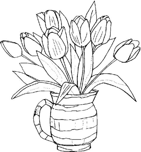 coloring page of flowers free printable flower coloring pages for best