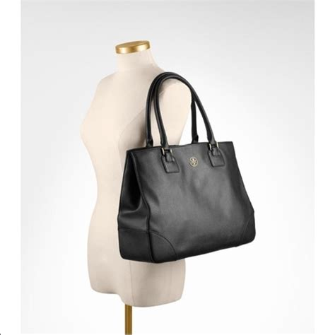 Burch Robinson Large Zip Tote Black Authenticoriginalasli 37 burch handbags burch large black