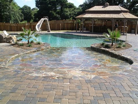 stone pool deck natural stone tanning deck swimming pool pictures
