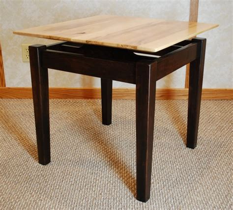 floating end table brown maple floating top end table de vries woodcrafters