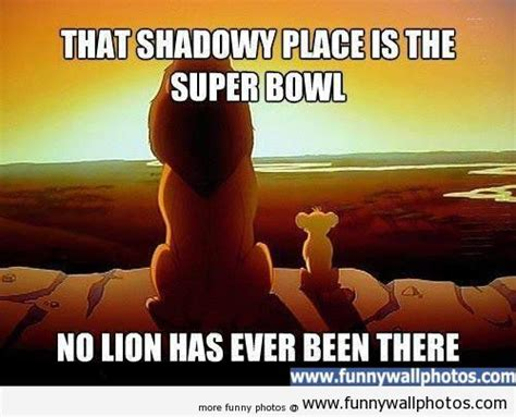 Lions Super Bowl Meme - lions superbowl cartoon that shadowy place is the super