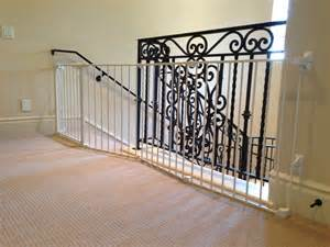 Banister Guard by Metal Baby Gate For Stairs With Banister Best Baby Gates