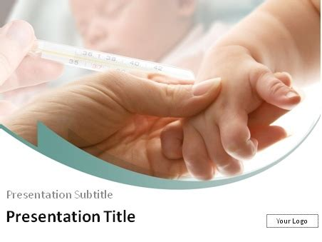 Download Pediatrician Holding Infant S Hand Powerpoint Template Pediatric Powerpoint Templates Free