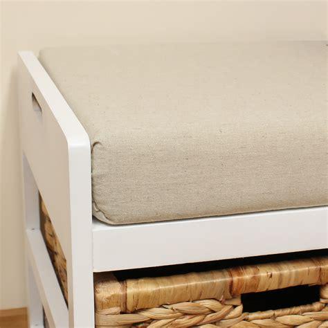 seagrass storage bench storage bench cushion seat seagrass wicker baskets
