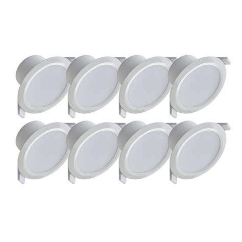 Luxmenn Downlight 7w White deta 7w warm white dimmable led downlight 8 pack