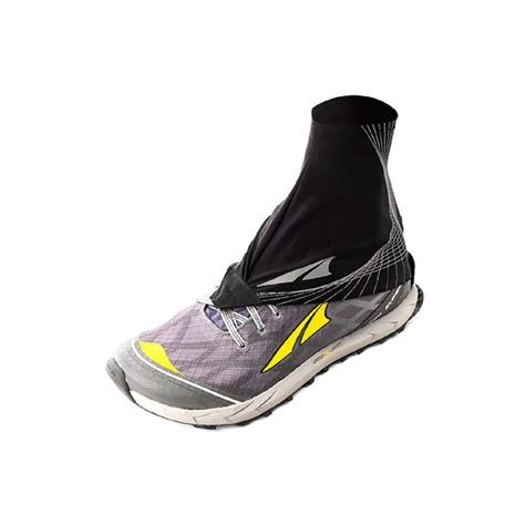 running shoe gaiters the altra trail gaiter in black at northernrunner