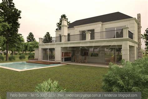 casa country renderizar arquitectura imagenes 3d renders