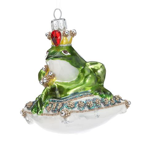 frog prince on pillow christmas ornament gump s