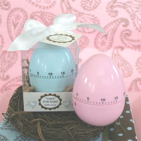Baby Shower Favors For Guests by Quot Time For Baby Quot Egg Timer Blue Or Pink