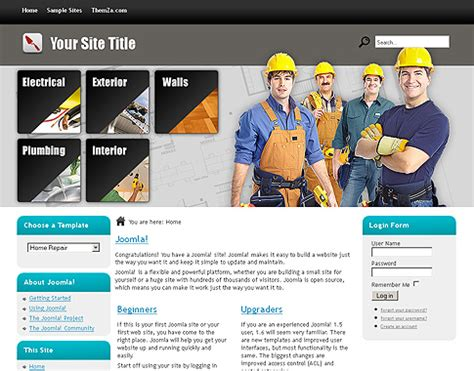 home repair sites home repair free joomla 1 6 template from themza