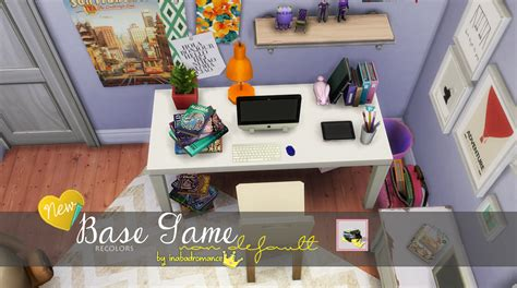 sims 4 cc home decor my sims 4 blog base game book recolors by inabadromance