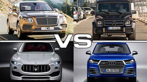 bentley bentayga vs mercedes amg g63 vs maserati levante
