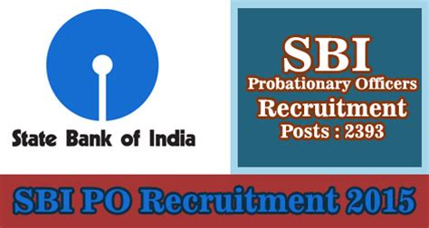 Syndicate Bank Letterhead 2393 Sbi Po Probationary Officers Recruitment 2015
