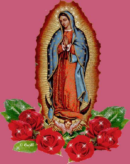 imagenes de la virgen de guadalupe que brillen gif de la virgen de guadalupe con rosas brillos y