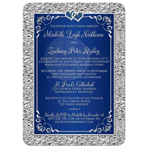 Wedding Invitation Royal Blue by Royal Blue And Gold Wedding Invitations Siudy Net