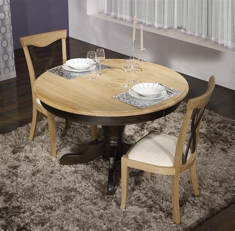 table ronde chene table ronde pied central en ch 234 ne massif de style louis