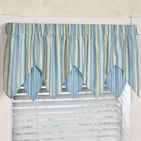coastal curtains window treatments clearwater coastal striped ascot window treatment
