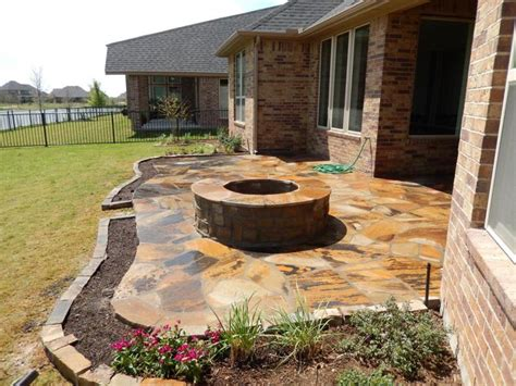 Patio Designs Okc Flagstone Paver Concrete Patio Design Installation