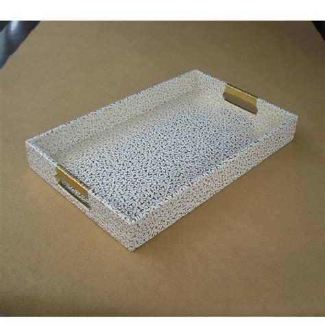 decorative serving trays 40x25cm rectangle leather serving storage decorative tray