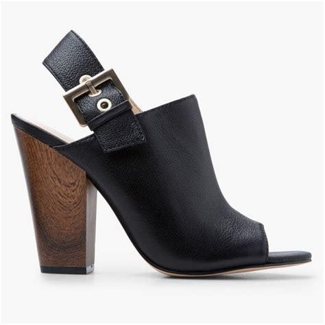 black leather high heel mules nine west nine west black leather orlanda high heel