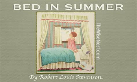 bed in summer poetry bed in summer the wise nest