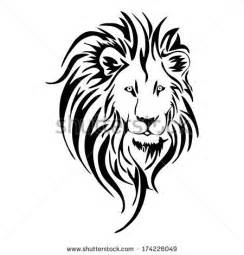 Lion head silhouette clip art stock vector lion head tattoo vector