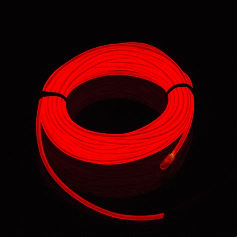 Glow Neon Light Bar Wire 3m 5m el glow neon light bar wire rope string car