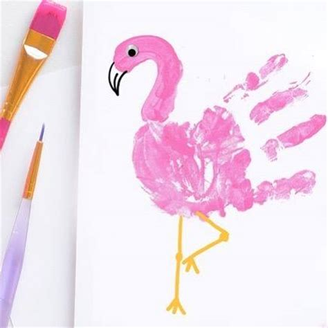 flamingo craft projects flamingo handprint craft supplies needed white paper